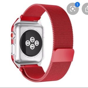 Accessories - Red magnetic apple watch band